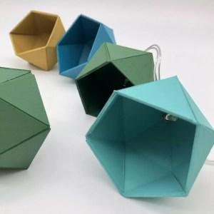 "28C47853 ABE9 4A51 A9EF 84210EEC2350 rotated - Leewalia - Guirlande lumineuse origami ""Blaune"""