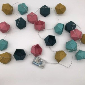 "4CE459F3 B8C6 4196 A078 364A3BAFF12C rotated - Leewalia - Guirlande lumineuse origami ""Scandinave"""