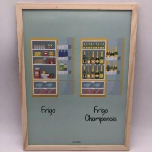 "60E1CEAB CF76 4EBB B408 25B4CAB817AD rotated - Les Cornichons - cadre poster ""le frigo champenois"""