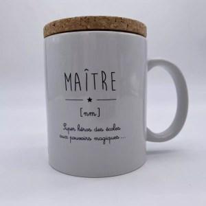 """IMG 2034 - Marcel et Lily - mug """" Maître Super Héros des écoles"""""""