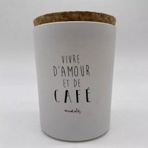 """IMG 2087 - Marcel et Lily - bougie """"vivre d'amour et de café"""""""