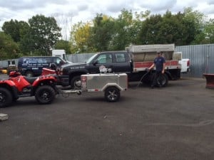 Contractor 110 Deluxe Towed by ATV at Krehel Auto
