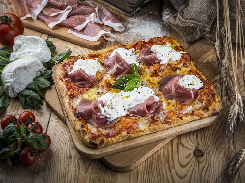 Kilometros de Pizza Pizza San Daniele