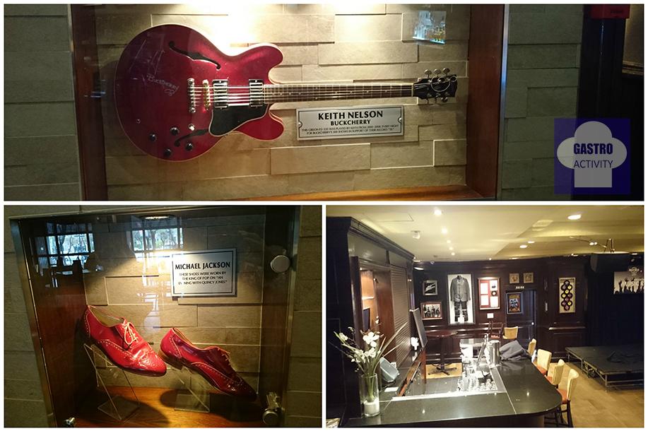 Gitarra de Keith Nelson, zapatos rojos de Michael Jackson y sala de conciertos Skyline