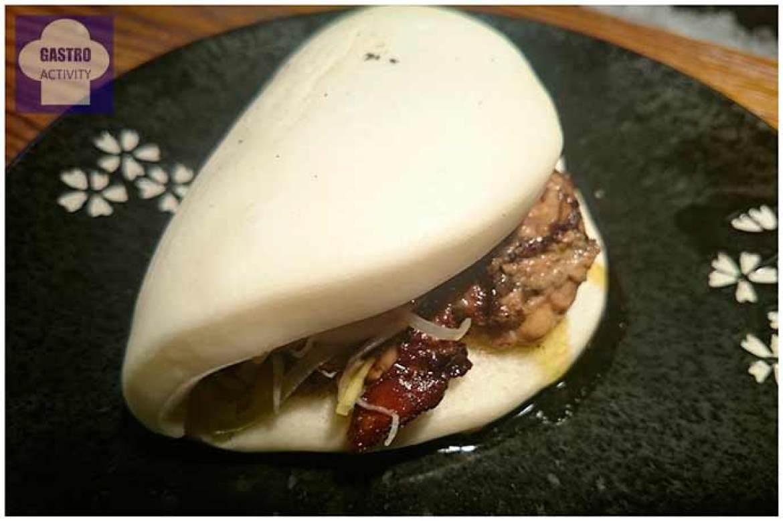 Yakibokata Foie-gras caramelizado a la plancha con puerros