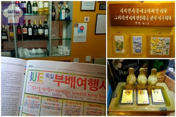 Detalles de la decoración y prensa coreana