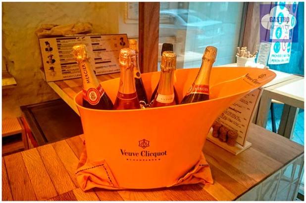 Botellas de champagne