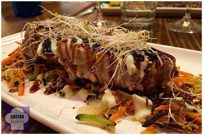 Atún Teriyaki con verduras El Patio del Fisgón Chamberí nuevo restaurante Madrid