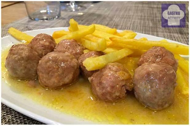 Albondigas de ternera Restaurante El Patron Grupo La Maquina