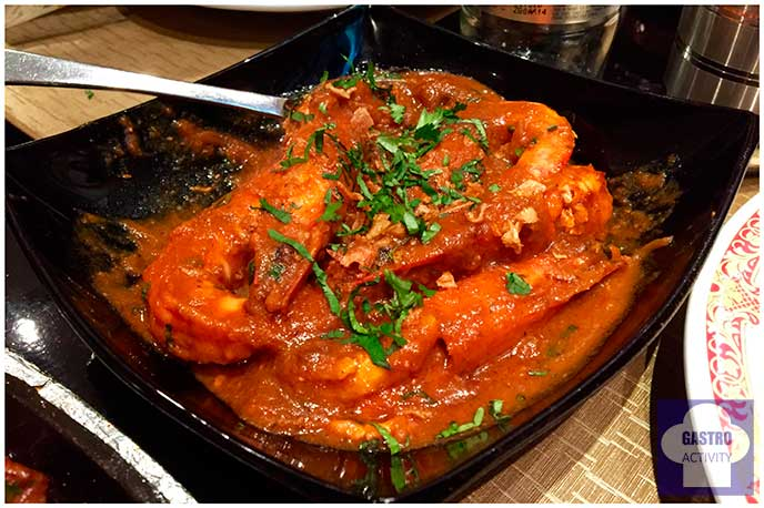 King Prawn Curry Restaurante Purnima comida hindu Madrid
