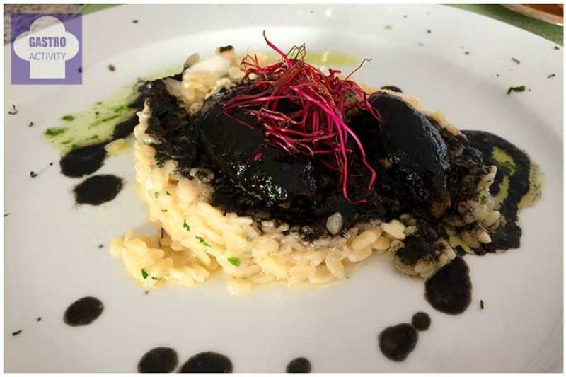 Risotto con chipirones Restaurante Jose Luis Madrid