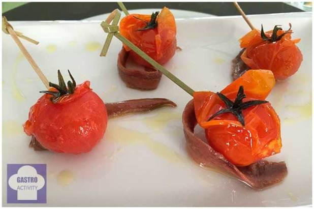 tomate confitado con anchoas Restaurante Jose Luis Madrid