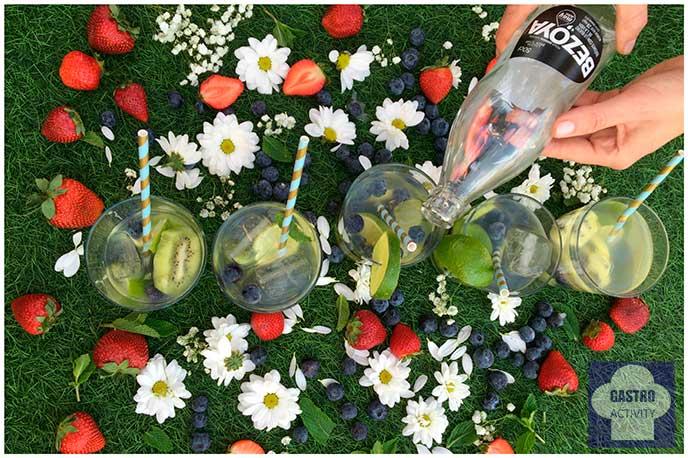 Aguas infusionadas de Bezoya de kiwi al estilo Lauraponts