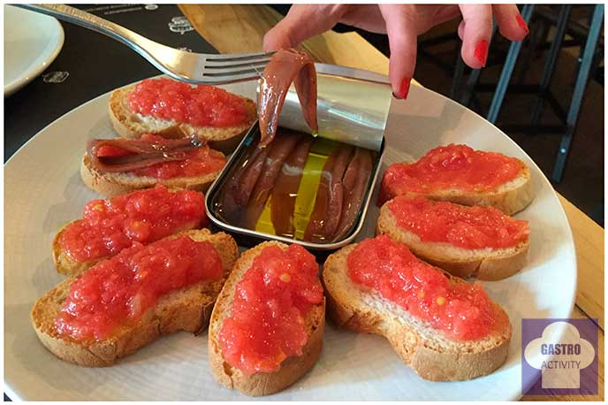 Anchoas con tomate Gobu Burger Madrid