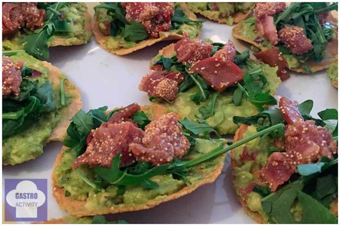 Tacos de atun Takering catering saludable mexicano