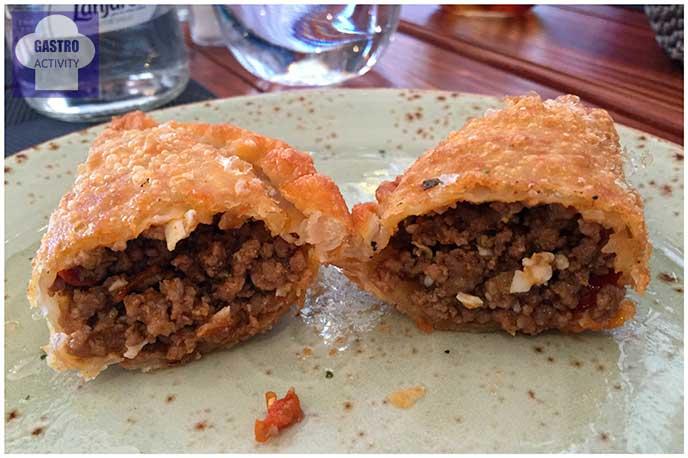 Relleno empanadas de carne Restaurante La Torino Madrid