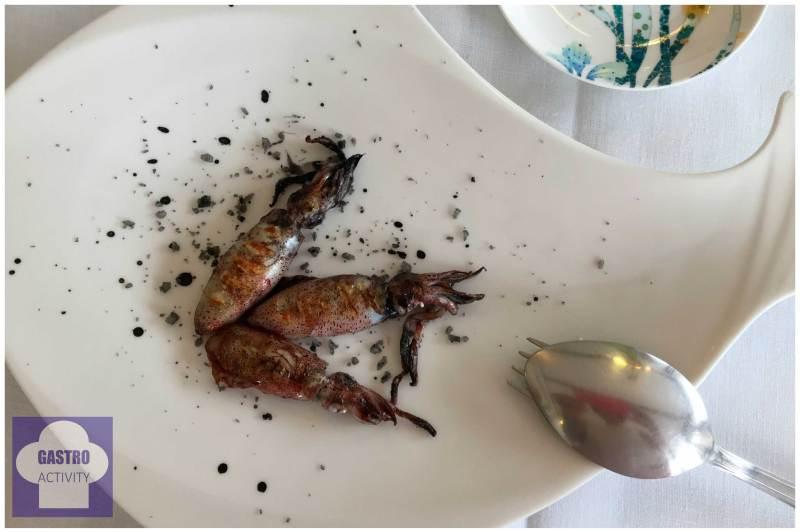 Chipirones a la brasa Restaurante Gueyu Mar