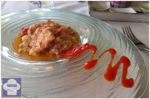 Salpicón de bogavante Restaurante Gueyu Mar