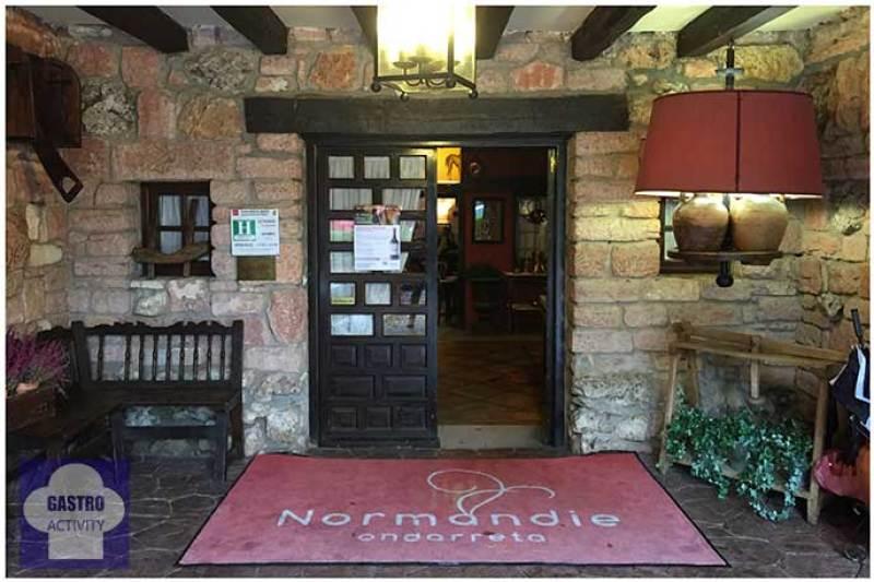 Menu de la vendimia en Normandie Ondarreta