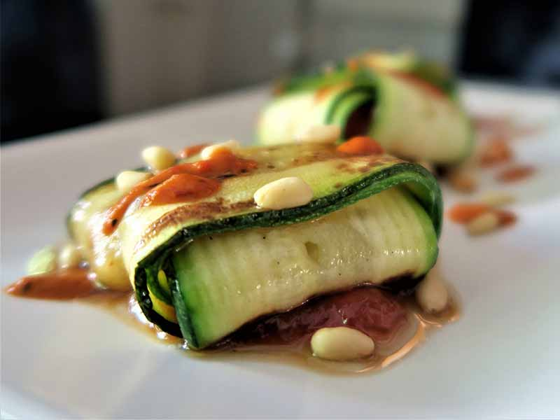 Restaurante Gigi ravioli de calabacin
