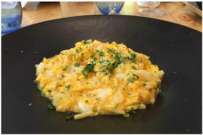 Bacalao a bras plato estrella de Atlantik Corner restaurante portugues