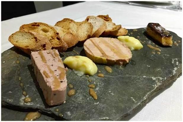 Pizarra de Foie Le Château de l´entrecôte