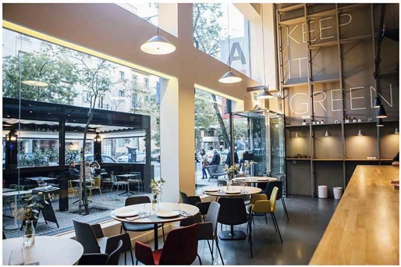 Planta baja Restaurante vegetariano Copenhagen Madrid