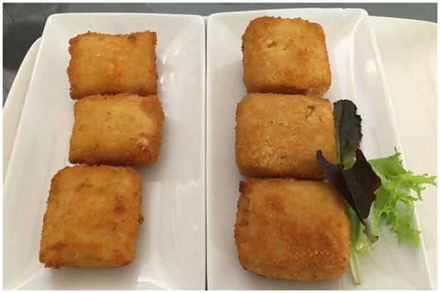 Croquetas de boletus y trufa y Croquetas de jamón de bellota Restaurante La Tená