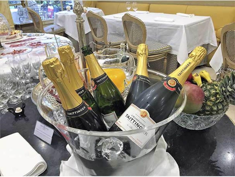 Champagne Taittinger brunch del Hotel Orfila