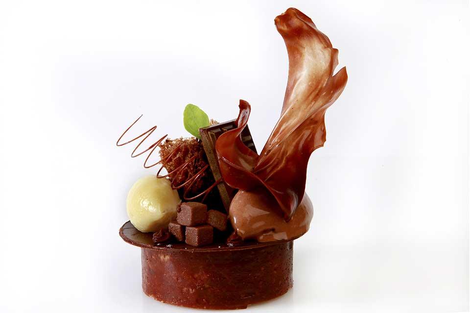 Pasion de chocolate Ultima cena del restaurante Coque en Humanes de Madrid