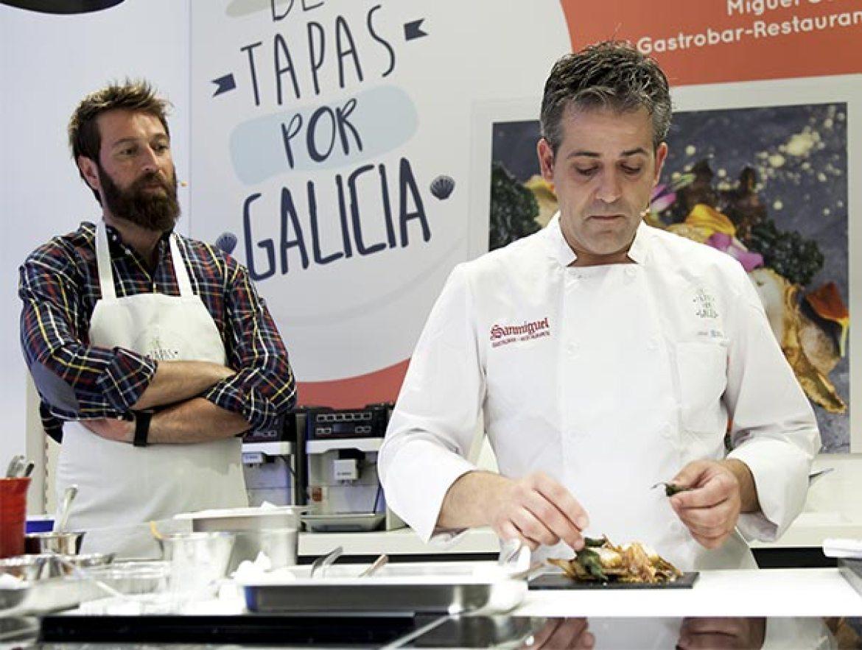 De Tapas por Galicia 2017 Miguel Gonzalez del restaurante Gastrobar Sanmiguel de Ourense