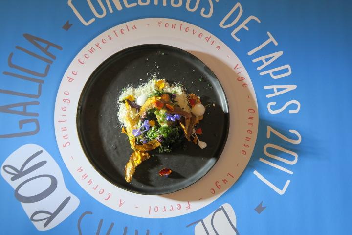 De Tapas por Galicia 2017 tapa elaborada por el chef Miguel Gonzalez de Ourense
