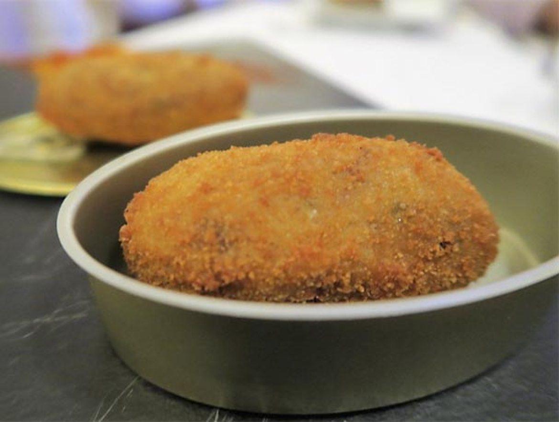 Croquetas de pringá de cocido Restaurante La Clave Madrid