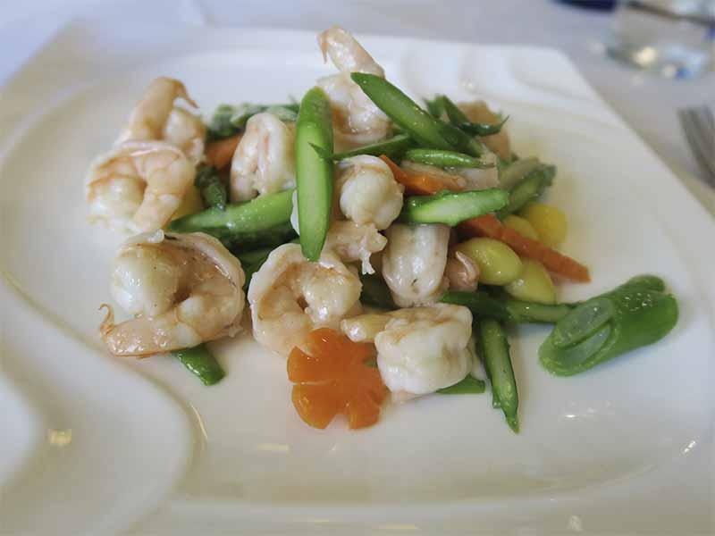 Casa Lafu restaurante chino Langostinos Gingko