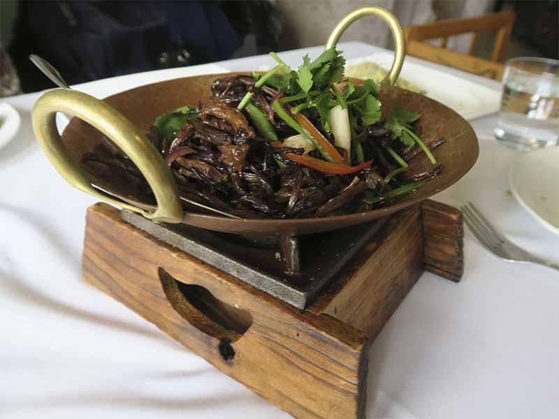 Casa Lafu restaurante chino Setas chinas y verduras salteadas