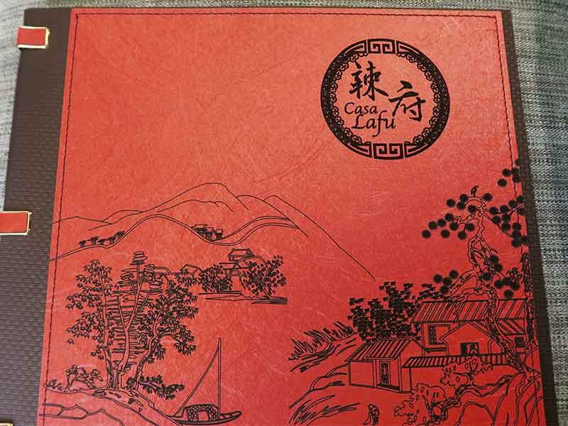 Casa Lafu restaurante chino carta