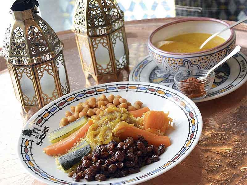 restaurante marroqui AL-MOUNIA Madrid Cous Cous de Verduras