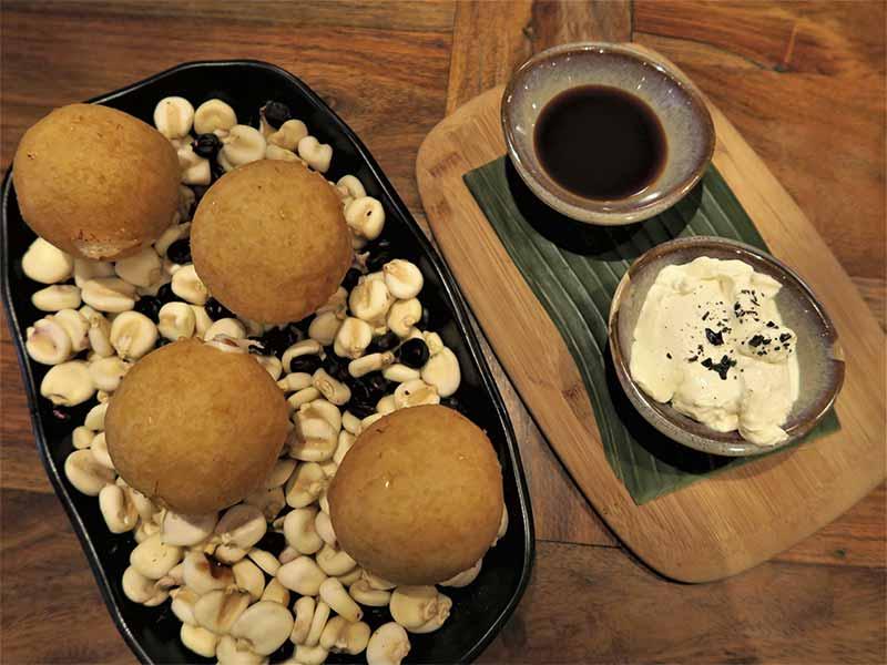 Bombitas de maiz Restaurante Nomada Madrid