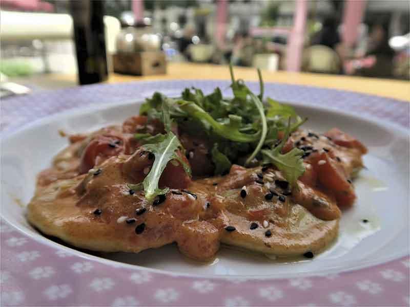 La Panera Rosa Madrid Raviolones de salmon fresco