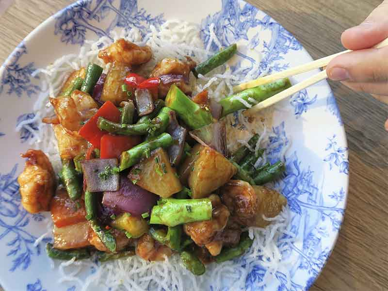 Restaurante Miss Chen en Valdebebas Madrid Wok de verduras