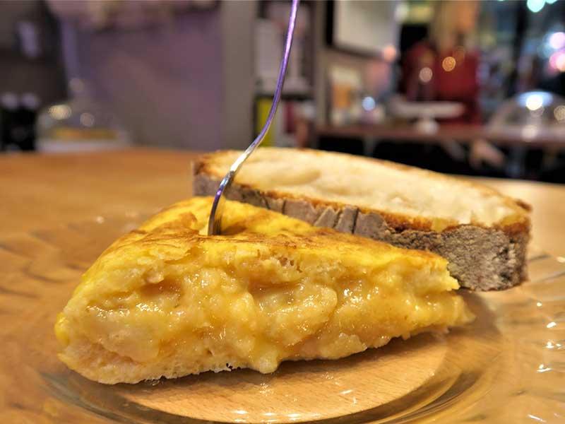 Tortilla de patatas Cafes Tornasol