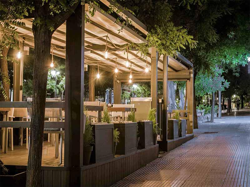 Restaurante Lua de Madrid terraza