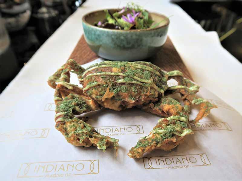 Restaurante Indiano Madrid DF Cangrejo de concha blanda y aguacate