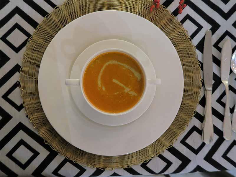 Infusion de carabinero com curry y lima