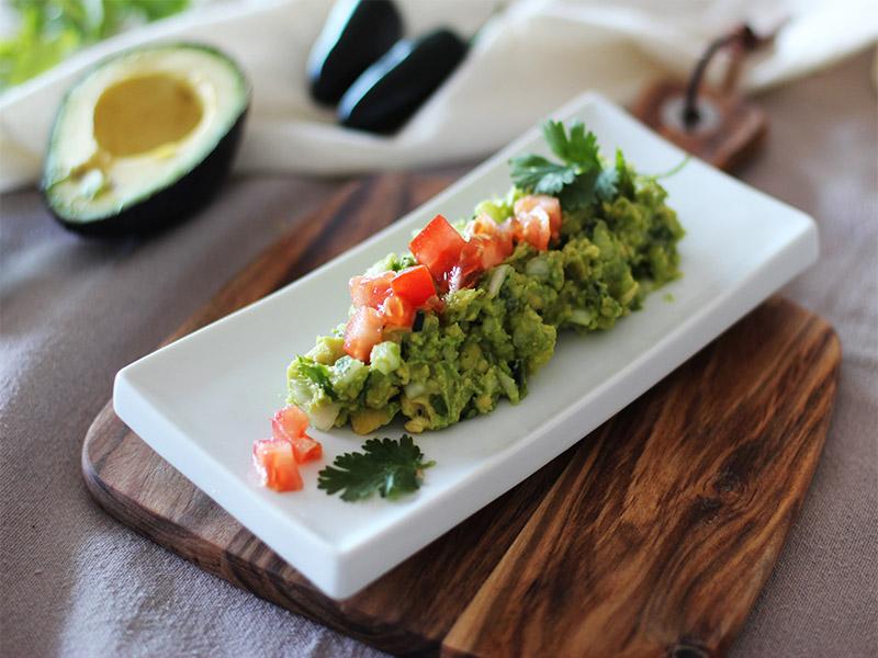 Receta Guacamole restaurante Iztac emplatado