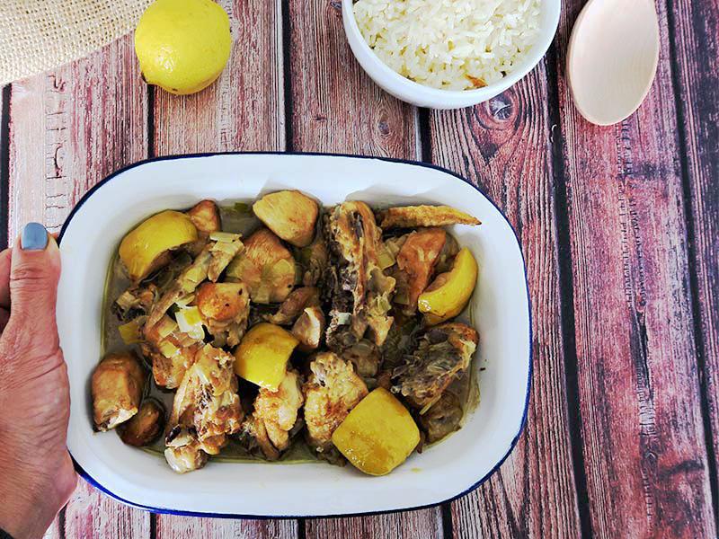 receta pollo al limon con verduras facil