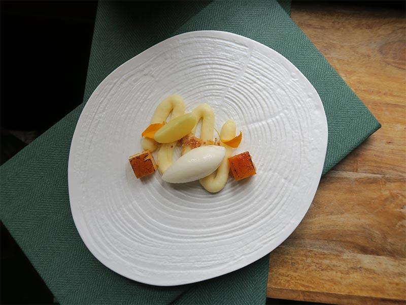 Restaurante Muna Ponferrada Leon Yema de La Bañeza naranja y tomillo