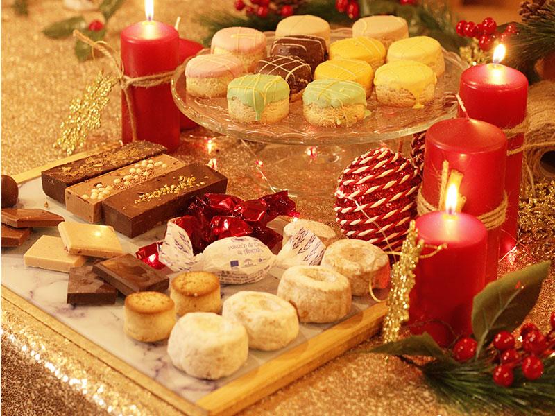 Bandeja de Dulces de Navidad