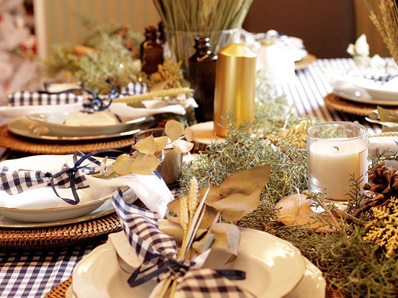 Mesa para la cena de Nochevieja
