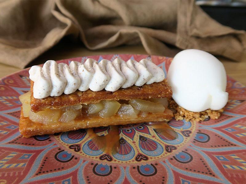 Las Terrazas de Sardalla en Ribadesella Milhojas de manzana con Sorbete de sidra